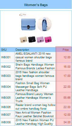 First catalog with prices