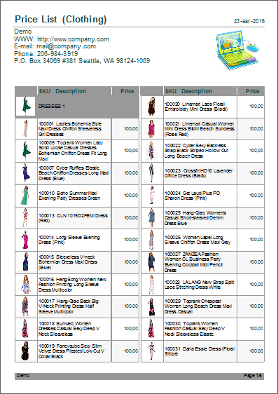 product price list template with pictures - price list template how to make a product price list