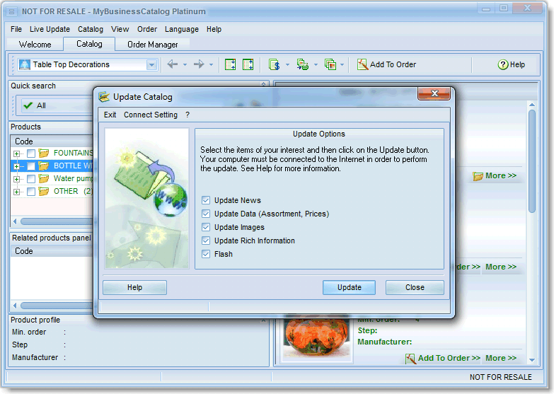MyBusinessCatalog Platinum Screenshot