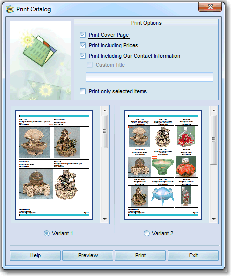 print catalog software