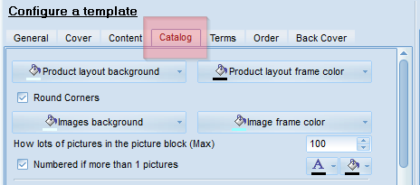 Configure catalog page template