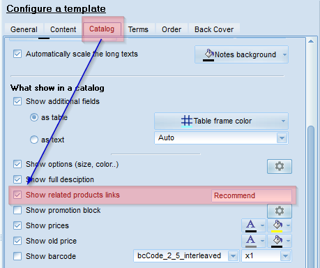 Turn on links in the template of line sheet maker