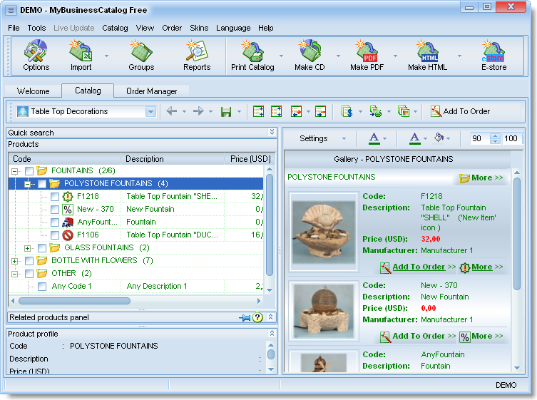 MyBusinessCatalog Platinum Professional full screenshot