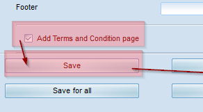 Set option 'Add Terms and Conditions'