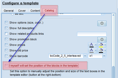 Turn on configuration of catalog templates