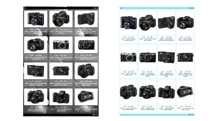 Sample of decorated PDF catalog (Cameras)а)