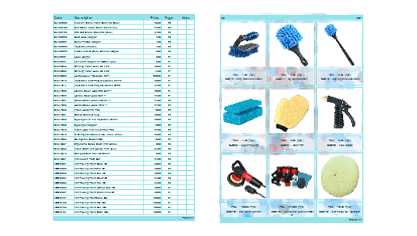 Printed catalog exsample with contents