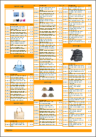 Pricelist template, orange theme