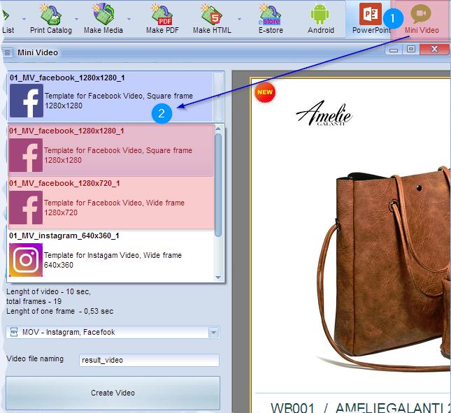 Template Minivideo Catalog For Facebook - Facebook video template